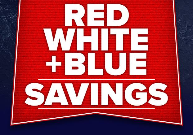 Red White + Blue Savings