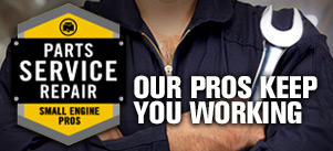 Parts, Service + Repair | Our Pros Keep  You Working